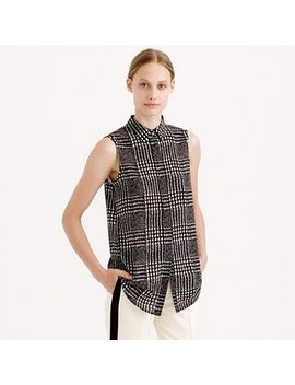 tall-sleeveless-blouse-in-graphic-plaid by jcrew