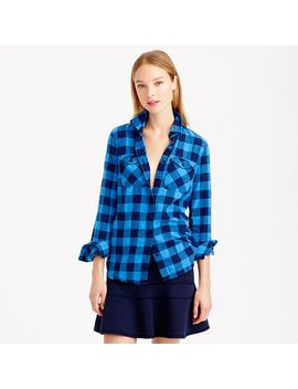 tall-flannel-shirt-in-brilliant-sea-check by jcrew