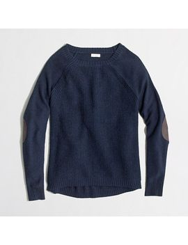 factory-warmspun-swingy-elbow-patch-sweater by jcrew