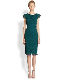 lace-cap-sleeve-sheath-dress by abs