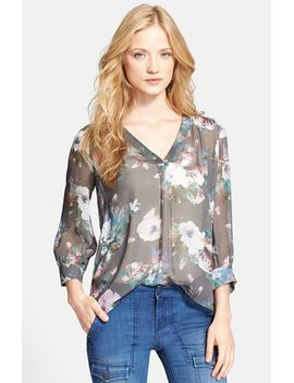 aceline-print-silk-shirt by joie