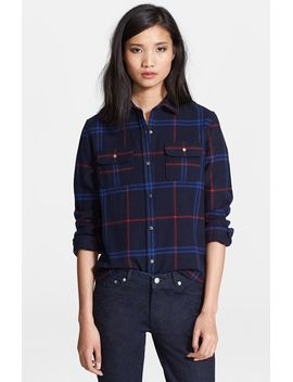plaid-wool-blend-shirt by apc