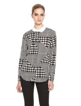contrast-collar-blouse by dkny