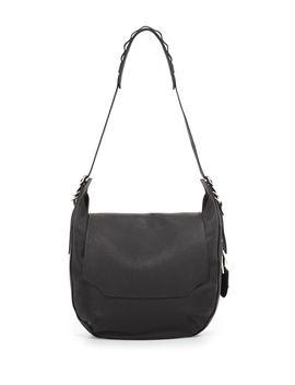 bradbury-leather-flap-hobo-bag,-black by rag-&-bone