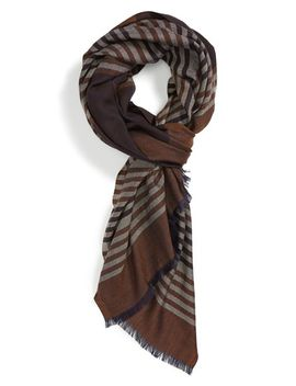 wool,-silk-&-cashmere-scarf by salvatore-ferragamo