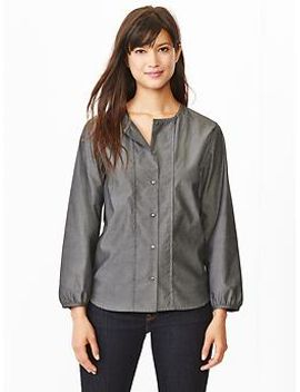 pleated-oxford-shirt by gap