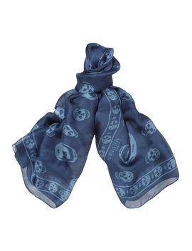 skull-print-silk-chiffon-scarf by alexander-mcqueen