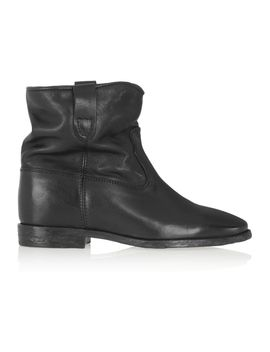 Étoile-cluster-leather-concealed-wedge-ankle-boots by isabel-marant