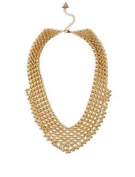 gold-and-silver-tone-textured-disc-necklace by guess