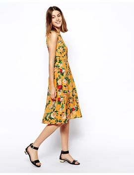 -dress-in-pretty-rose-print by asos-collection