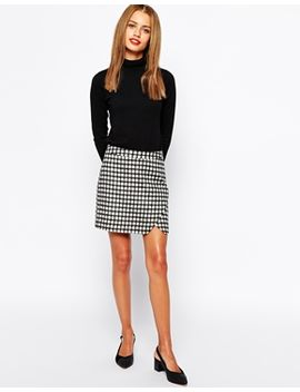 new-look-textured-wrap-pencil-skirt-with-zip-detail by new-look