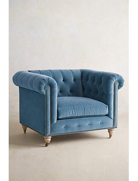 velvet-lyre-chesterfield-armchair,-wilcox by anthropologie