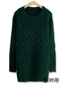 favorite-longline-cable-sweater by oasap