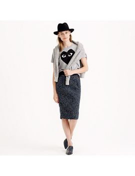 midnight-tweed-pencil-skirt by jcrew