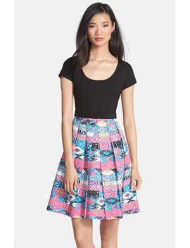 zoe-print-skirt-fit-&-flare-dress by plenty-by-tracy-reese