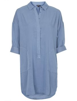 relaxed-tencel-shirt-dress by topshop