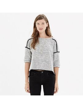 textured-crop-sweatshirt by madewell
