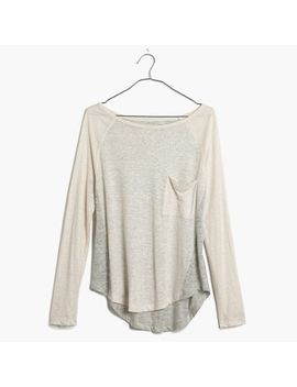 linen-curveball-tee-in-colorblock by madewell