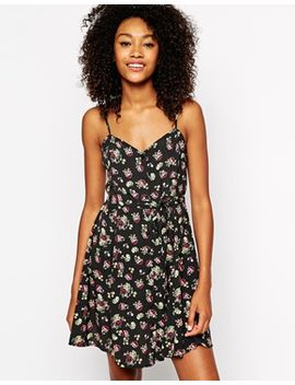 monki-button-front-cami-dress-in-vintage-floral by monki