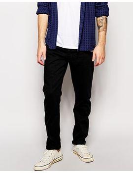 tapered-jeans-in-black-denim by han-kjobenhavn