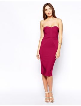 asos-bandeau-bandage-midi-dress by asos-collection