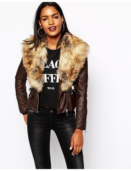 river-island-biker-jacket-with-faux-fur by river-island