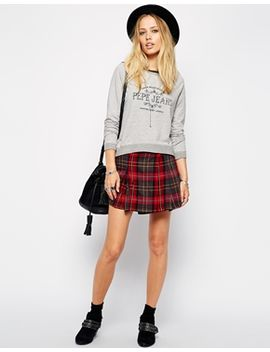 pepe-jeans-checked-mini-skirt by pepe-jeans