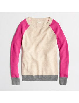 factory-waffle-sweater-in-colorblock by jcrew
