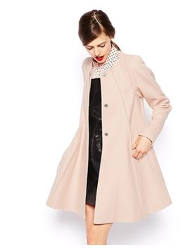 asos-coat-in-trapeze-with-seam-detail by asos-collection