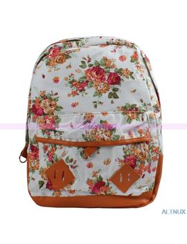 free-shipping-vintage-lady-girls-flower-floral-bag-schoolbag-bookbag-canvas-travel-backpack by ali-express