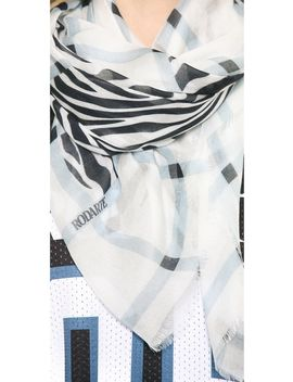 plaid-and-zebra-scarf by rodarte