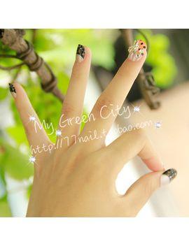 new-2014-high-quality-short-design-japanese-style-kawaii-3d-nails_fake-nail_nail-tips,24-pcs-with-glue,free-shipping by ali-express
