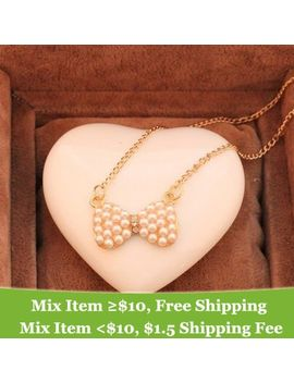 fashion-cheap-pearl-bow-necklace-wholesale-jewelry-!-crystal-shop by ali-express