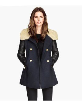coat-with-pile-collar by h&m