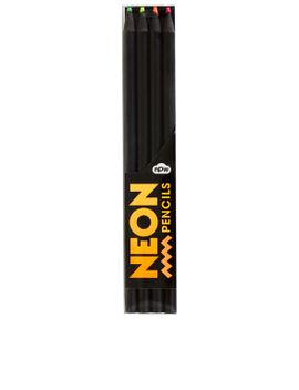 pack-of-four-neon-pencils by topshop