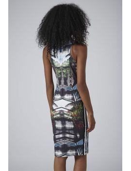 palm-placemenent-print-midi-dress by topshop