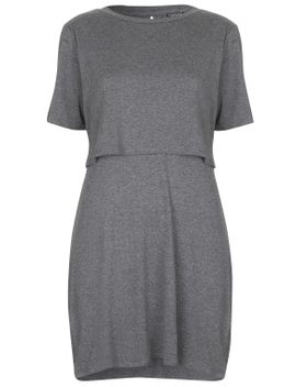 sport-marl-overlay-dress by topshop