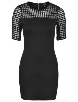 caged-bodycon-tunic by topshop