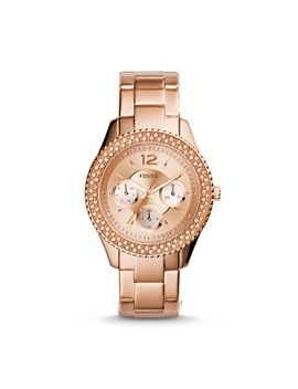 stella-multifunction-rose-tone-stainless-steel-watch by fossil