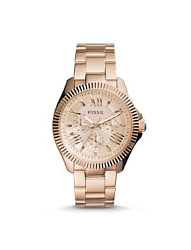 cecile-multifunction-rose-tone-stainless-steel-watch by fossil