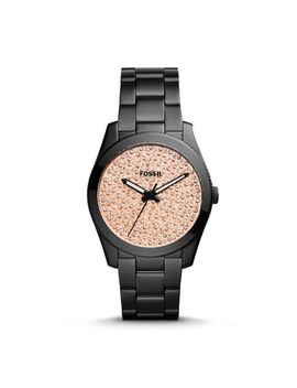 perfect-boyfriend-black-stainless-steel-watch by fossil