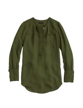 covered-button-crepe-blouse by jcrew