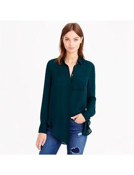 classic-silk-blouse by jcrew
