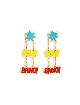 noir-jewelry-pow_bang-dc-comics-enamel-drop-earrings by noir-jewelry