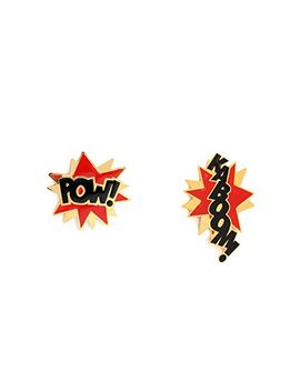 noir-jewelry-kaboom-pow-stud-enamel-dc-comics-earrings by noir-jewelry
