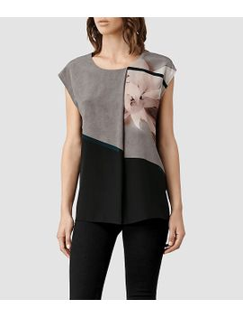 disperse-pleat-top by allsaints