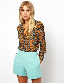 asos-blouse-in-bright-animal by asos-collection