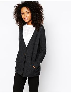 monki-contrast-detail-cardigan by monki