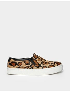 river-island-leopard-leather-pony-effect-slip-on-plimsolls by river-island