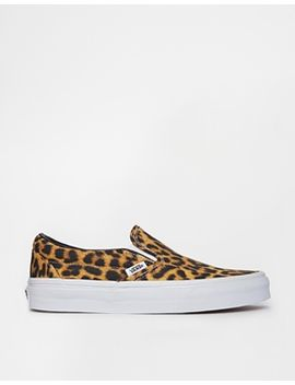 vans-classic-leopard-slip-on-trainers by vans